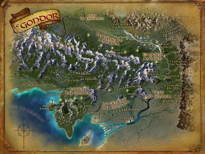 Carte du Gondor GON