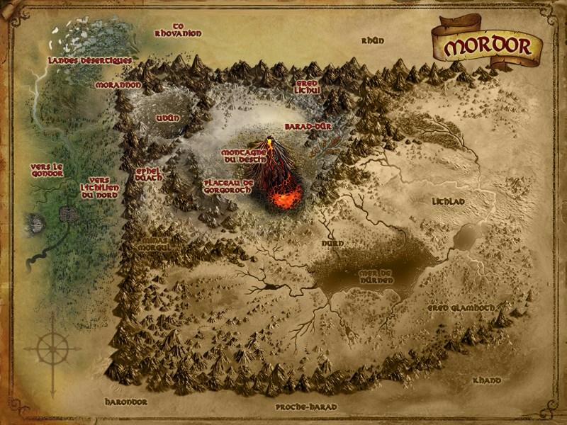 Carte du Mordor MRD