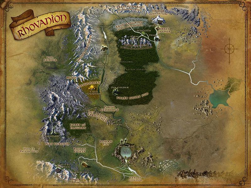 Carte du Rhovanion RHO