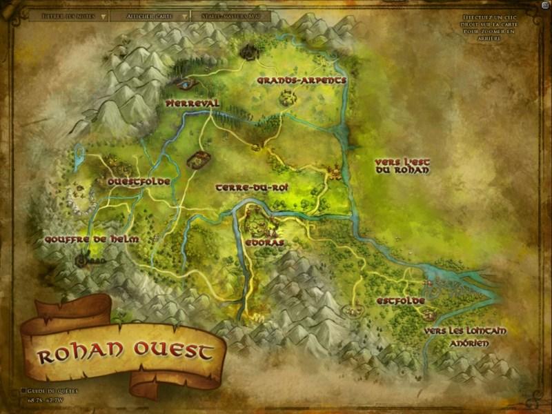 Carte du Rohan ROW