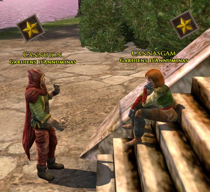 Deux personnages de réputation surmontés d'une étoile